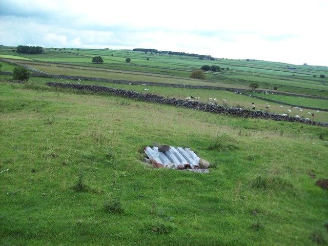 Capped Mine Shaft near High Stool Farm