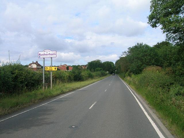 B6463 towards Dinnigton