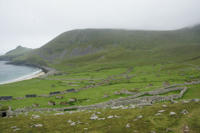 West end of Village Bay from below An Lag, St Kilda