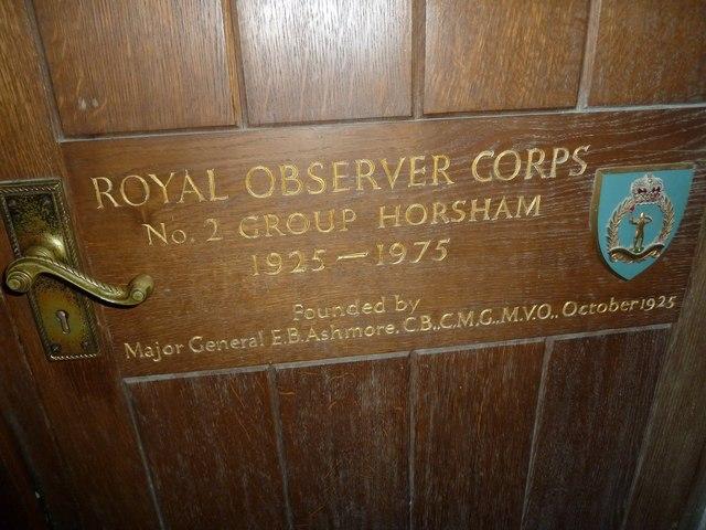 St Mary, Horsham- ROC commemoration
