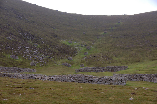 An Lag and the ascent to the Gap, St Kilda
