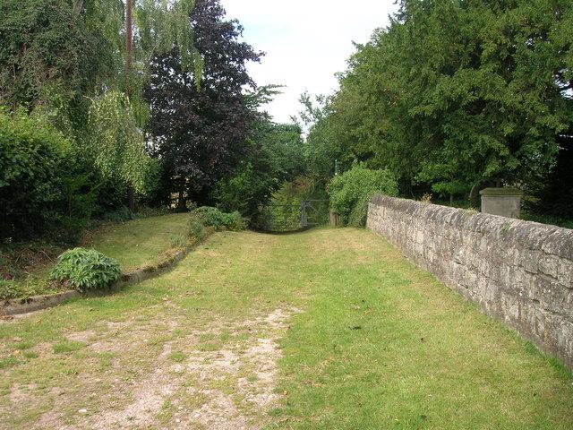 Church Lane (track) heading west