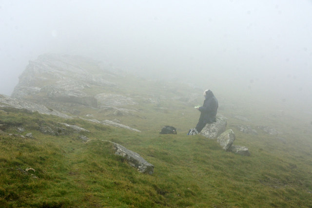 Waiting for the view to appear at the Gap, St Kilda