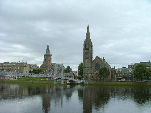 Two churches and a bridge