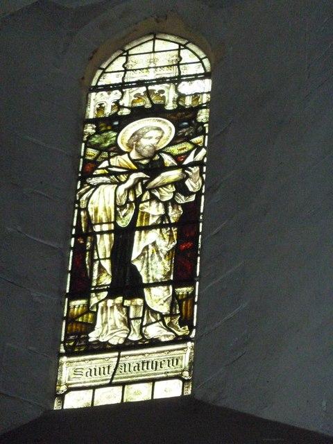 St Mary Horsham, chancel clerestory window- St Matthew
