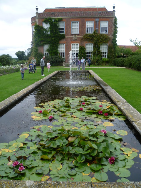 The lily pond at Hinton Ampner