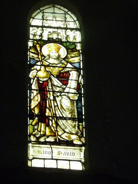 St Mary Horsham, chancel clerestory window- King David