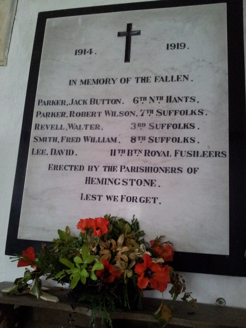 WW1 War Memorial, Hemingstone