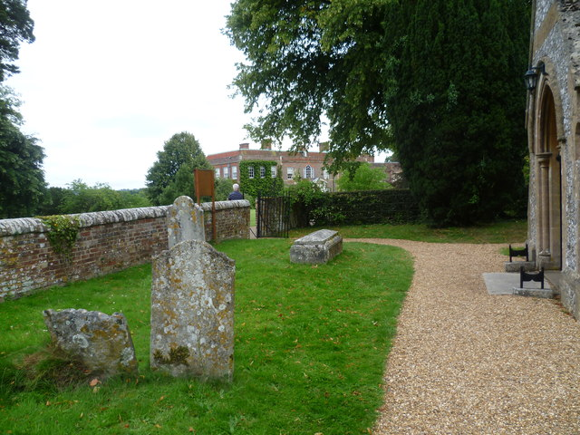 View from All Saints Churchyard, Hinton Ampner to the house