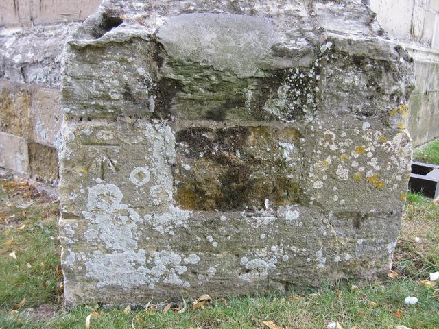 Bench mark on Holy Trinity, Stratford-upon -Avon