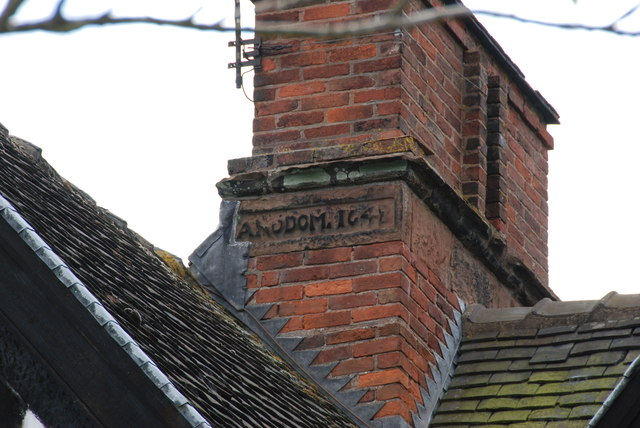 Date on Chimney of Clanford Hall Farmhouse