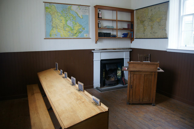 Inside the school on St Kilda