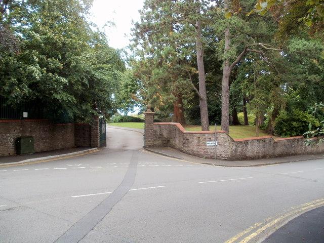 An entrance to Belle Vue Park, Newport