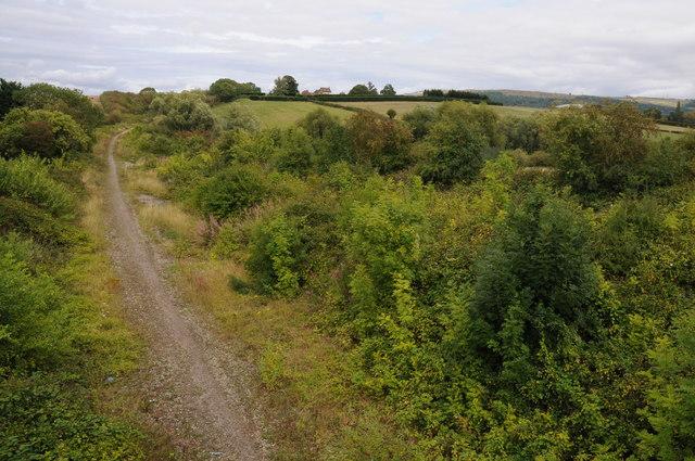 Dismantled railway in Cheltenham
