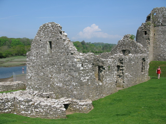 Part of Ogmore Castle