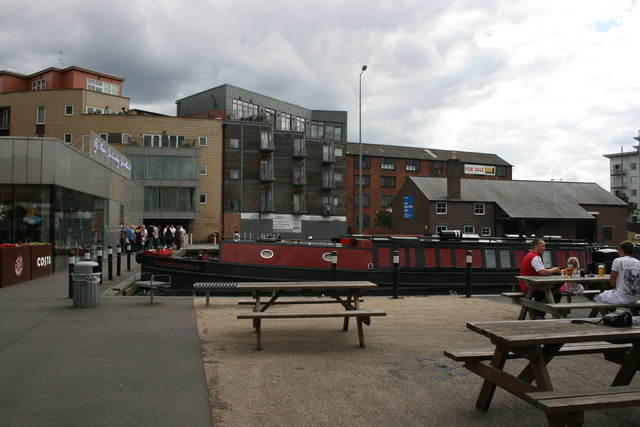 Canal wharf and barge