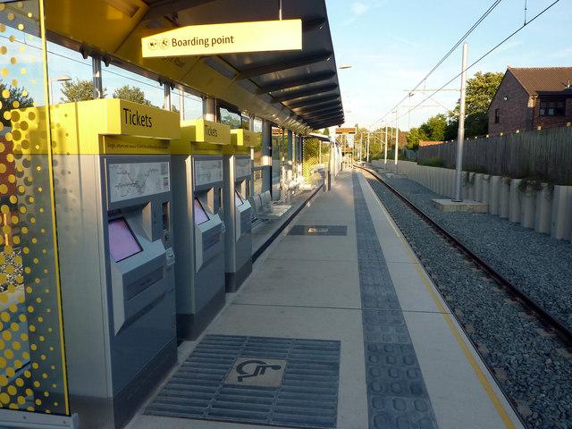Ticket machines at St Werburgh's Road Metrolink stop, Chorlton