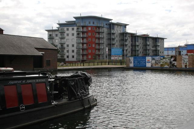 Walsall town centre canal wharf