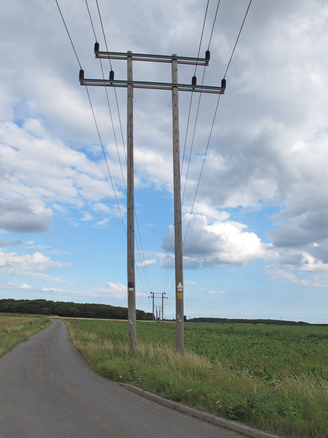 Wires over the fields, Harkstead