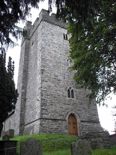 Tower of St Caron's Church, Tregaron