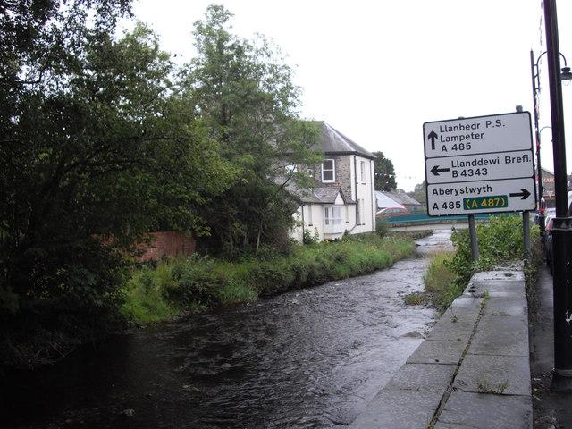 The Afon Brennig, Tregaron