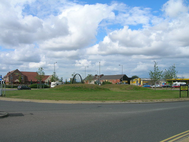 Roundabout on the B6060