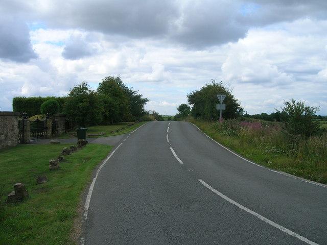 Hawk Hill Lane towards Ulley