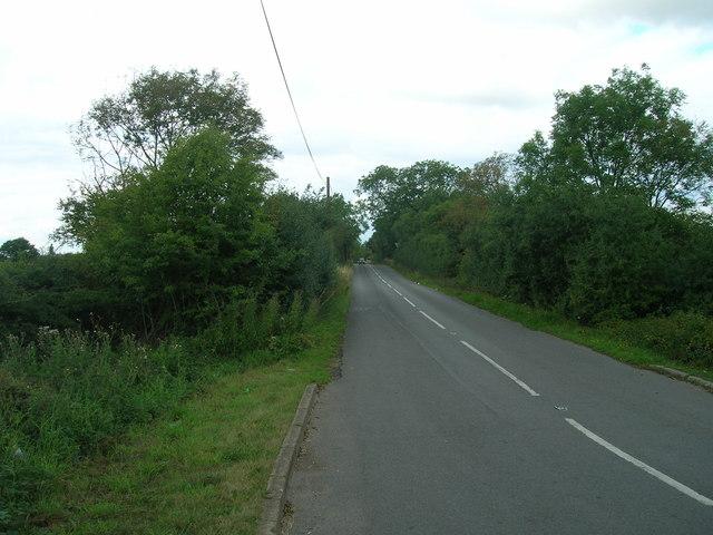 Minor road towards Ulley
