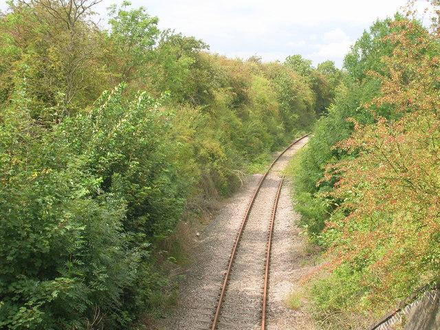 Railway line heading north