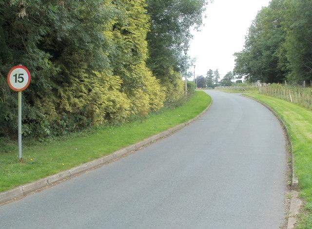 Speed limit, Bronllys Hospital
