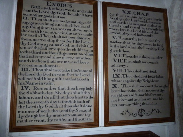 St Peter, Goodworth Clatford: The Ten Commandments