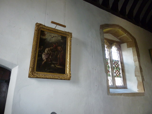 St Peter, Goodworth Clatford: painting on the north wall
