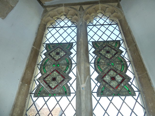 St Peter, Goodworth Clatford: stained glass window (3)