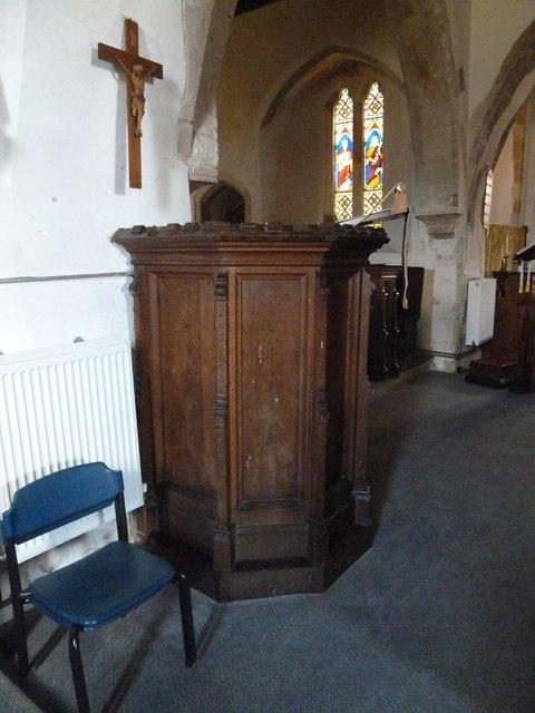 St Peter, Goodworth Clatford: pulpit