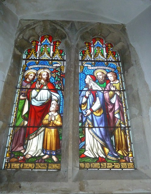 St Peter, Goodworth Clatford: stained glass window (6)