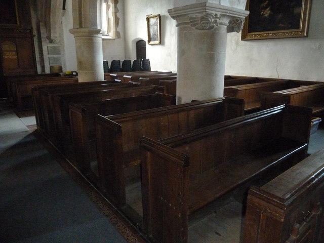 St Peter, Goodworth Clatford: pews