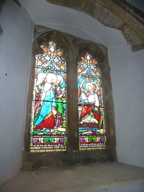 St Peter, Goodworth Clatford: stained glass window (7)
