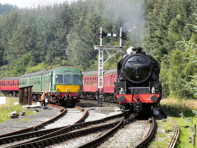 44767 George Stephenson Approaching Levisham