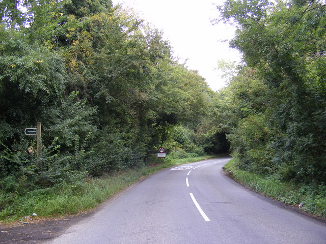 B1079 and the footpath to Gibraltar Road