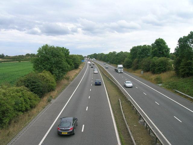 A1 (M) southbound