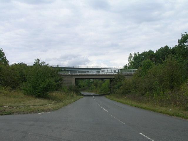 Motorway over White Cross Lane