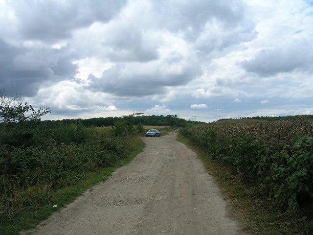 Wood Lane (track) heading west