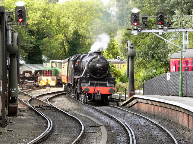 45428 Eric Treacy Arriving at Pickering Station