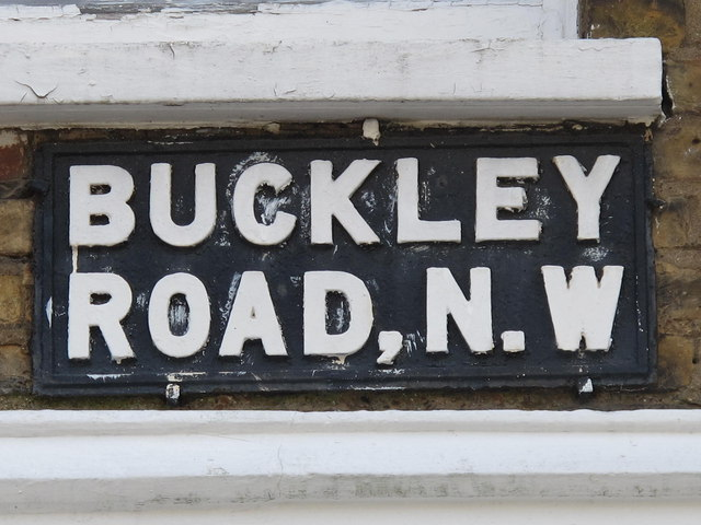 Old sign for Buckley Road, NW6
