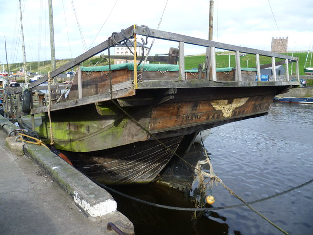 Chinese junk in Eyemouth Harbour
