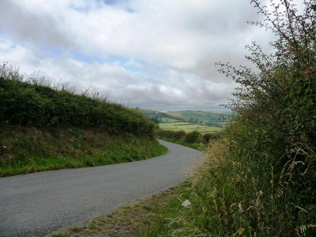 The road to Clun