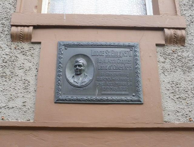 Robert Burns plaque, Church Street