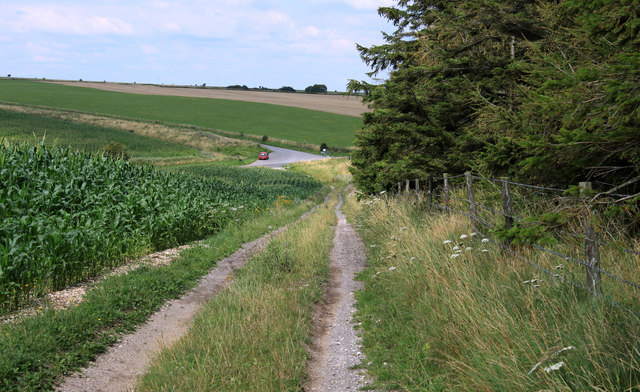 2011 : North on a byway crossing Ansty Hill