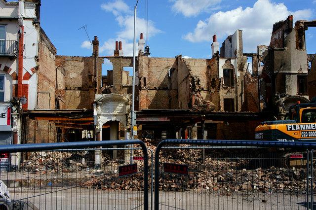 Croydon Riots - demolition