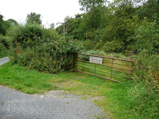 Gated entrance to Bergam Cottage
